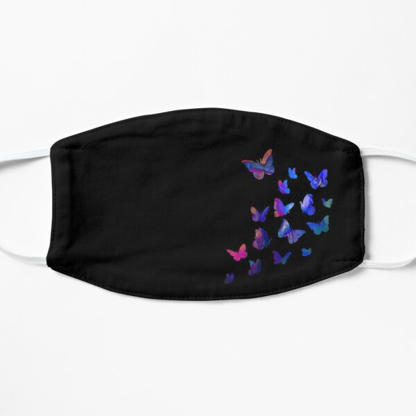 Butterfly, Butterflies, Blue Purple Dream, Pink Monarchs, Funny Present, Elegant Drawing Flying Insects, Beautiful Colors Mask