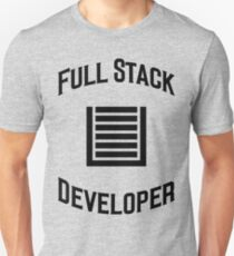 Full Stack Developer - Design for Web Developers Black Font T-Shirt
