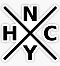 NYHC - New York Hardcore Logo Schwarz Schriftart Sticker