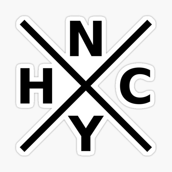 NYHC - New York Hardcore Logo Black Fuente Pegatina