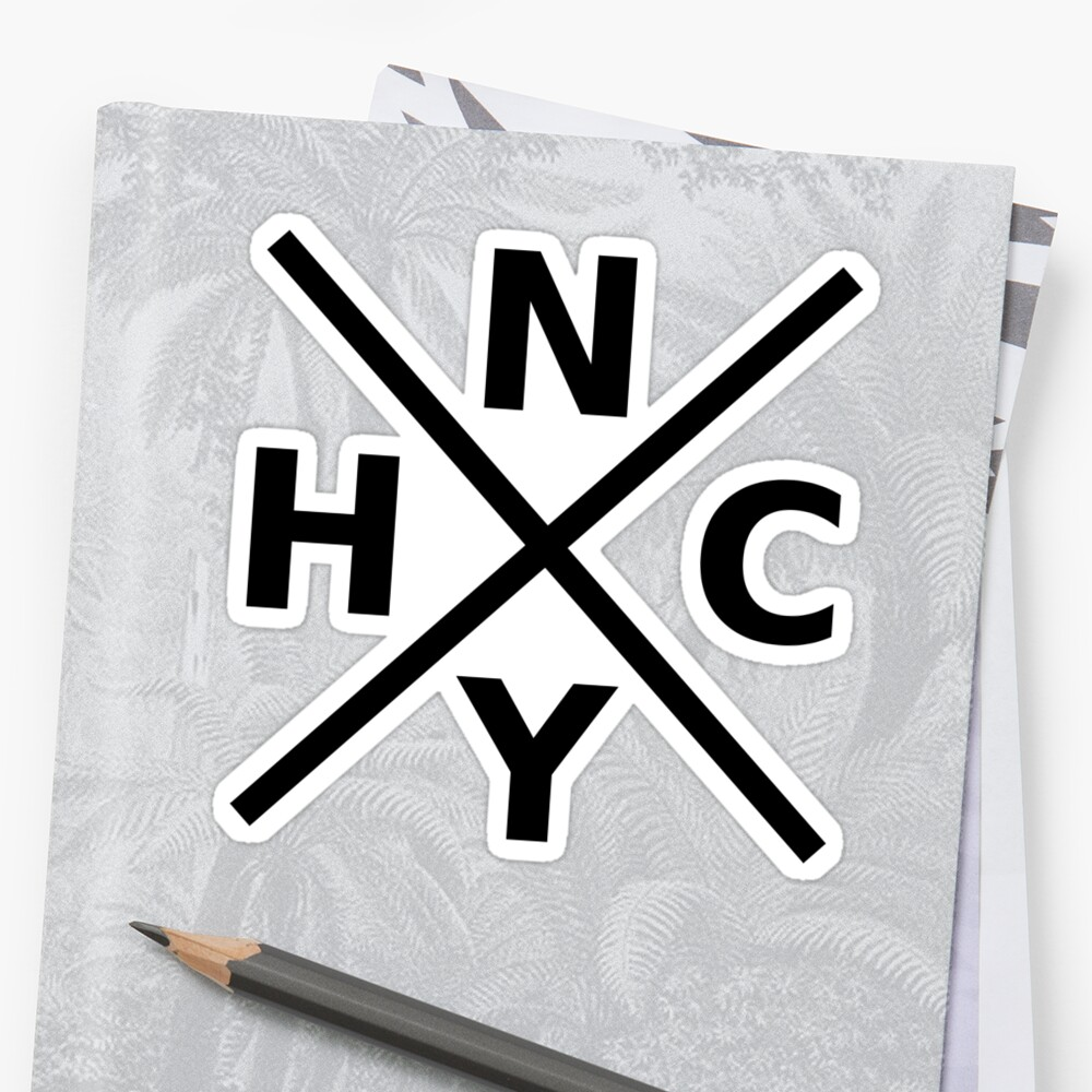 Quot Nyhc New York Hardcore Logo Black Font Quot Sticker By