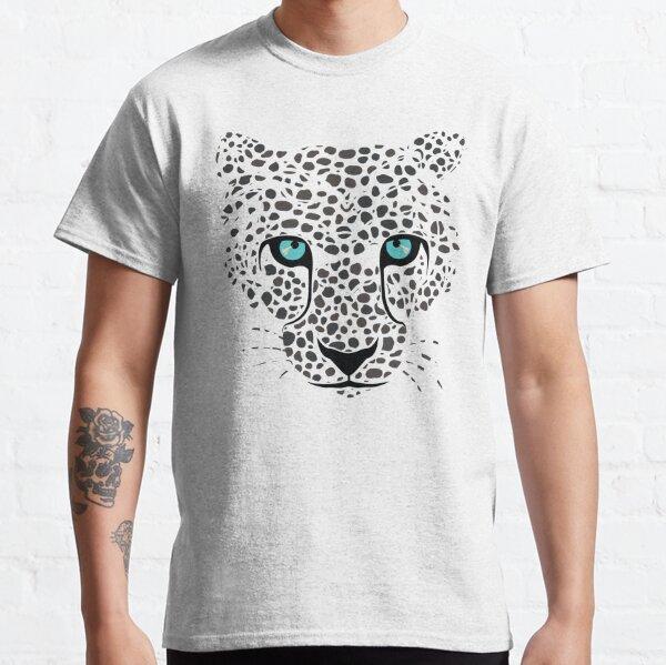 Snow Leopard Face Fashion Pattern Classic T-Shirt