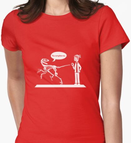 """""""You Complete Me"""" Deinonychus and Paleontologist Toon T-Shirt"""