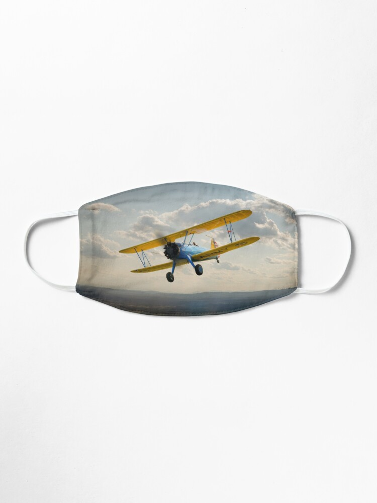Alternate view of Boeing Stearman in flight Mask