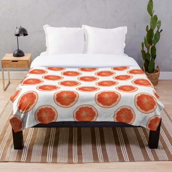 Orange Slice Pattern Throw Blanket