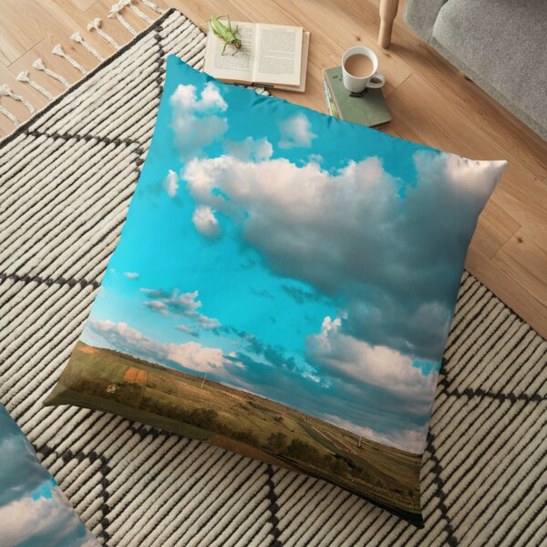The Field Of Clouds Floor Pillow
