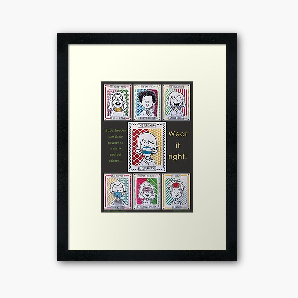 Wear It Right!  Framed Art Print