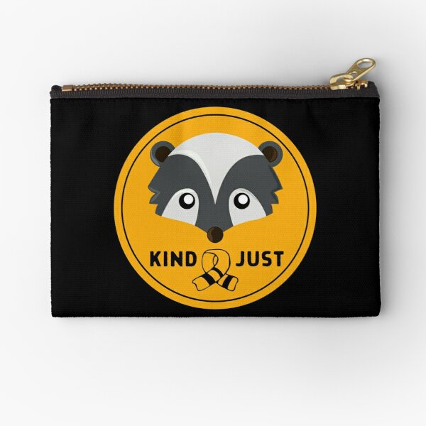 Huffle Badger Badge with Scarf Zipper Pouch