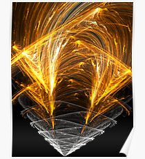 Fiery Spinning Cone Poster