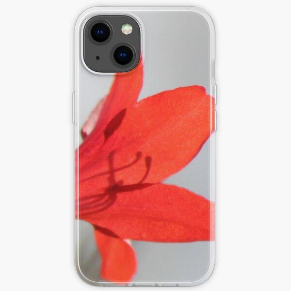 Fiery Bright Red Azalea Flower Blossom iPhone Soft Case