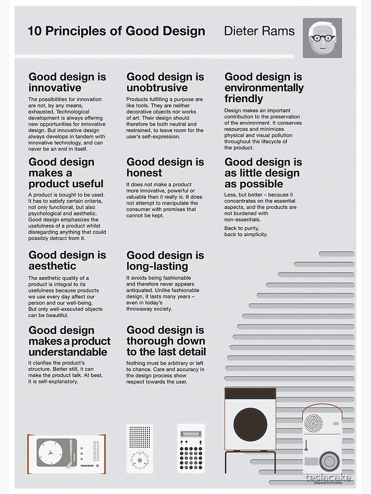 10 Principles of Good Design by teslacake