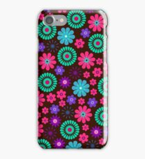 Vibrant Vector Flowers Pattern iPhone Case/Skin