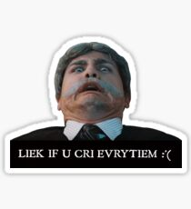 Liek dis if u cri evritiem Sticker