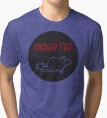 Mouse Rat T-Shirt   Parks and Recreation Leslie Knope Ron Swanson Bert Macklin FBI Parks n Rec Pawnee Indiana TV Show Tshirt Tee uk usa gift Tri-blend T-Shirt