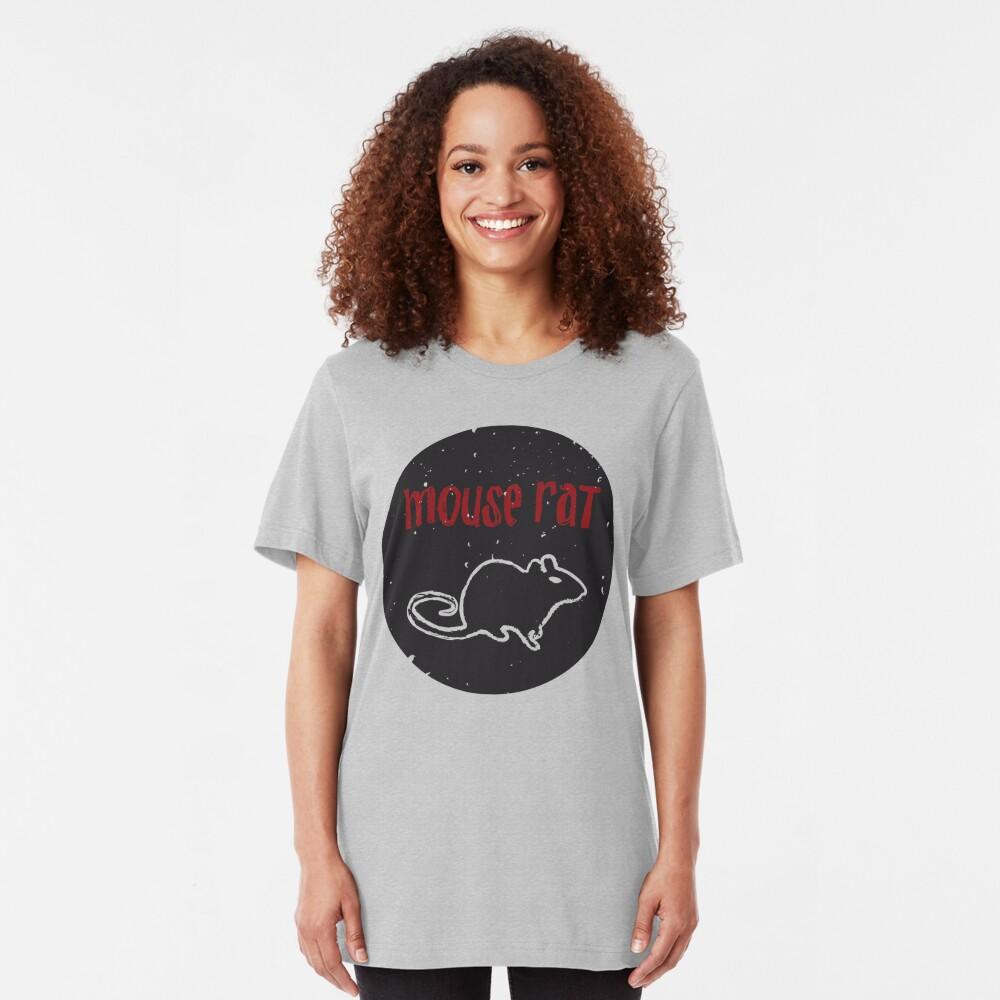 Mouse Rat T-Shirt | Parks and Recreation Leslie Knope Ron Swanson Bert Macklin FBI Parks n Rec Pawnee Indiana TV Show Tshirt Tee uk usa gift Slim Fit T-Shirt