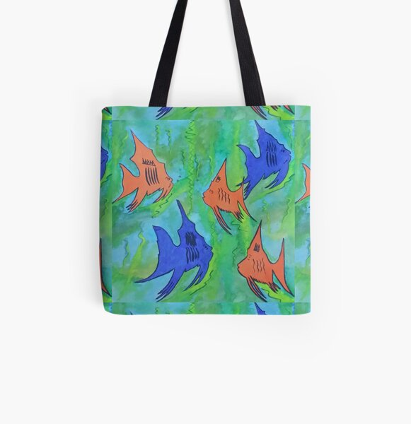 Brightly Coloured Fish All Over Print Tote Bag