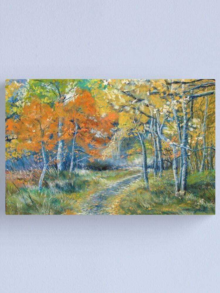 Alternate view of Autumn Dances Canvas Print