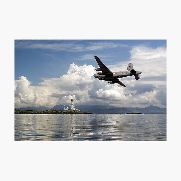 Shackleton over Lismore lighthouse Photographic Print