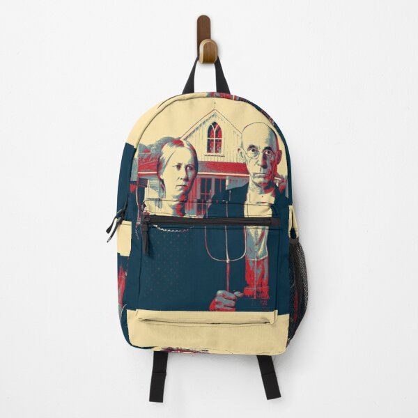 Masterpieces Revisited - American Gothic by Grant Wood Backpack