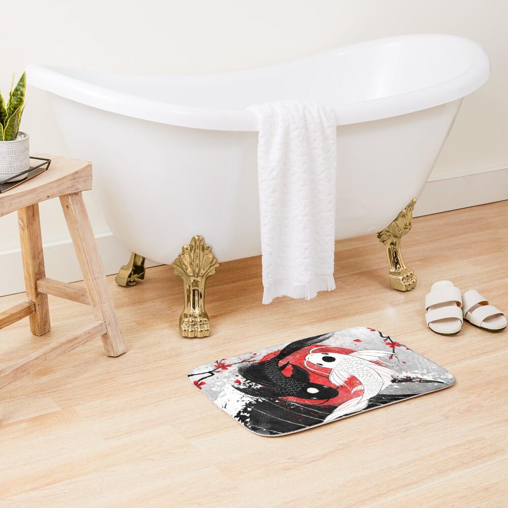 Koi fish - Yin Yang Bath Mat