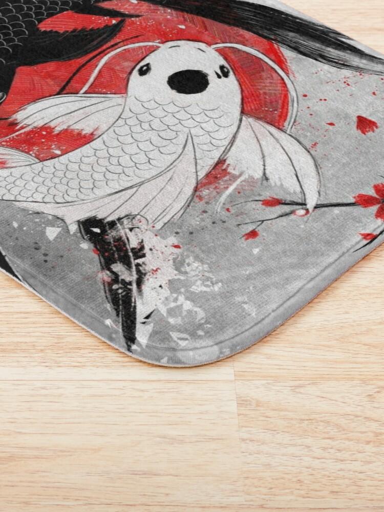 Alternate view of Koi fish - Yin Yang Bath Mat