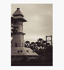 Bentong Clock and Kartanegara Bridge of Tenggarong Kutai Kartanegara East Borneo Photographic Print