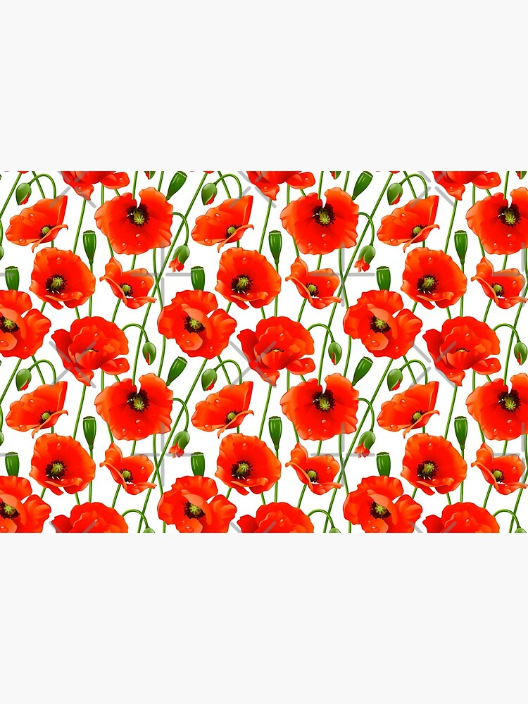 Beautiful Red Poppy Flowers by Makanahele