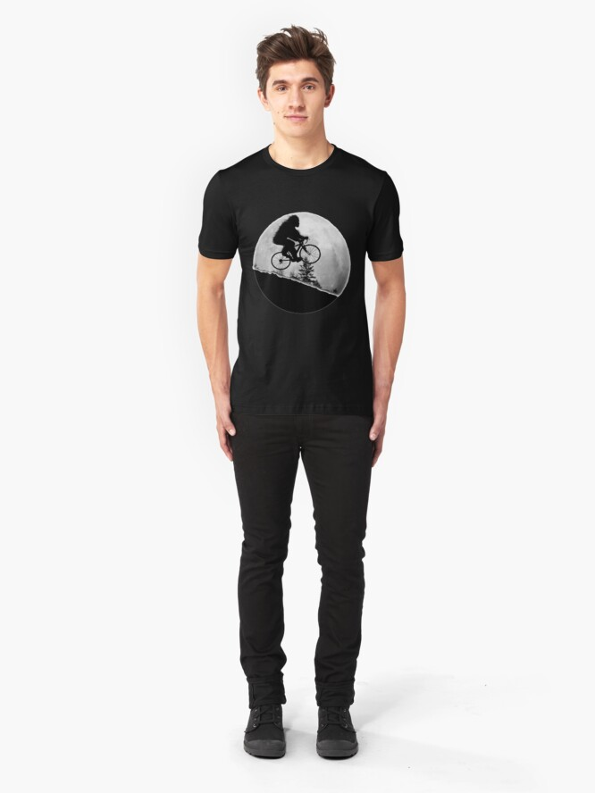 Alternate view of Bigfoot Rides! Slim Fit T-Shirt