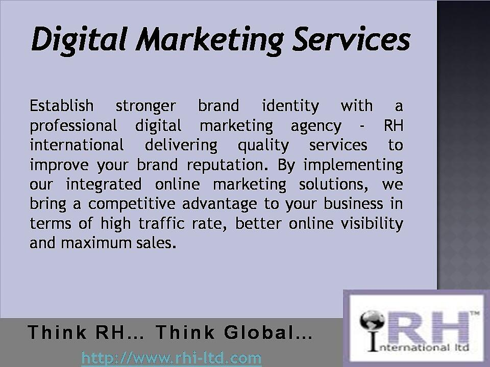 A Professional Digital Marketing Service Partner by rhiltd