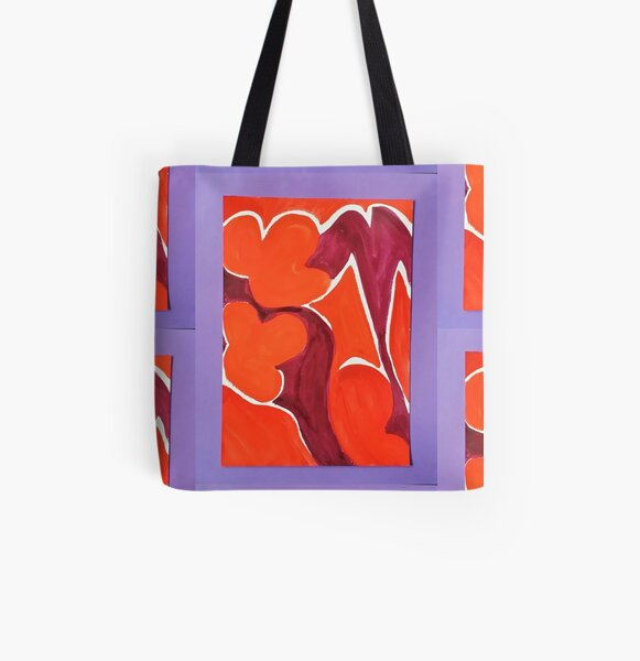 70s Shapes, Step Back in Time All Over Print Tote Bag