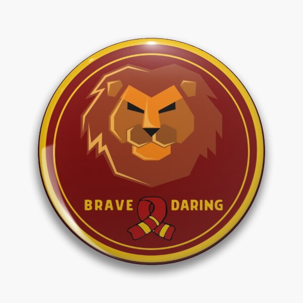 Strong Griffin Lion Badge with Scarf Pin
