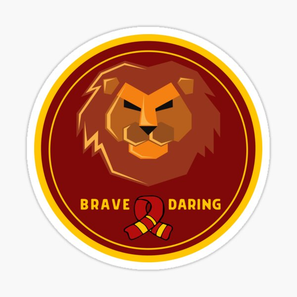 Strong Griffin Lion Badge with Scarf Sticker