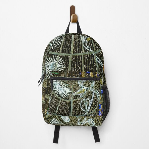 Christmas lights, Malaga 2019 (vertical) Backpack