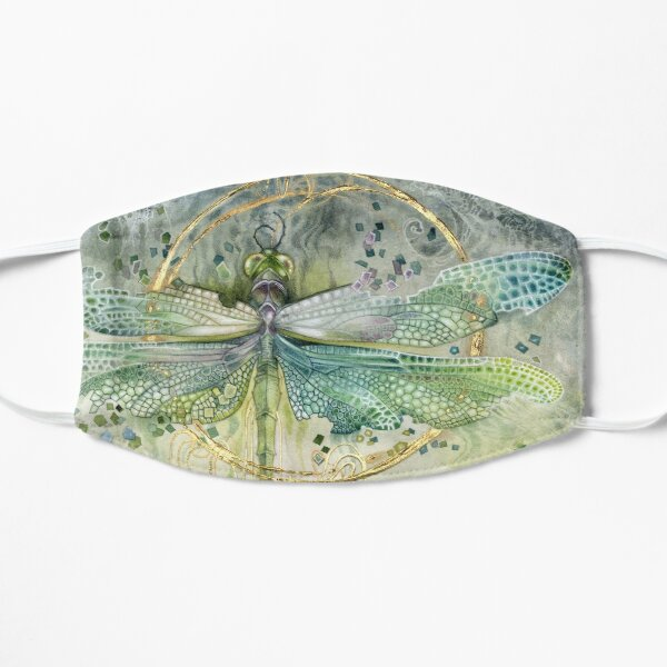 Green Dragonfly Flat Mask