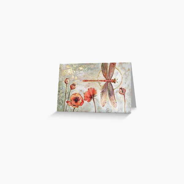 Red Jewel Damselfly Greeting Card