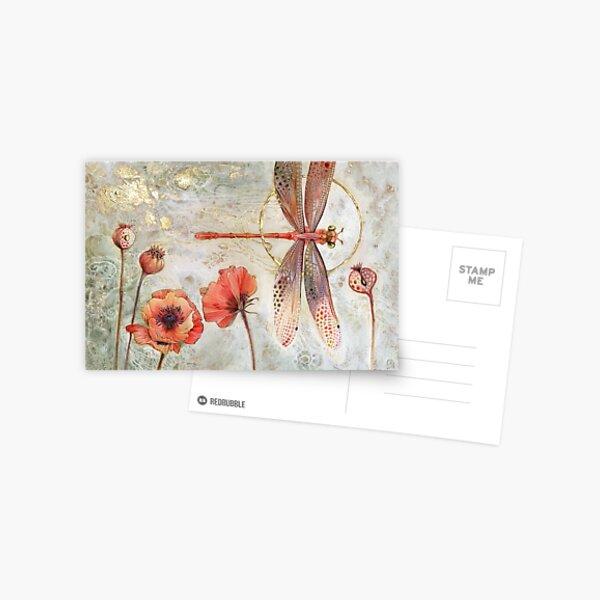 Red Jewel Damselfly Postcard