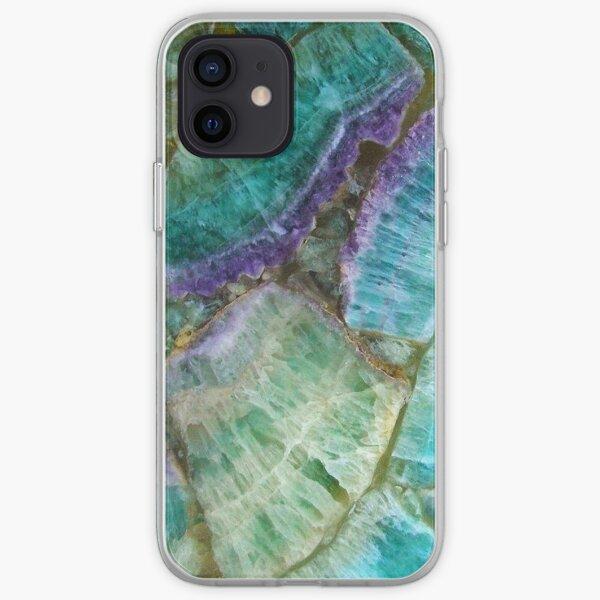 Colorful Fluorite semi precious gem stone iPhone Soft Case
