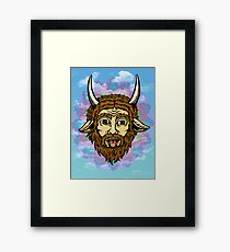 Manticore takes  a critical hit Framed Print