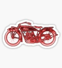 Vintage Indian Scout Motorcycle Print Sticker