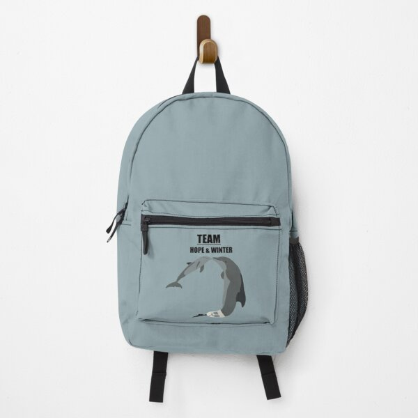 """""""Team Hope and Winter"""" the bottlenose dolphins Backpack"""