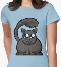 Brown Cat Womens Fitted T-Shirt