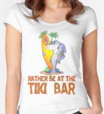 Tiki Bar Shark Women's Fitted Scoop T-Shirt
