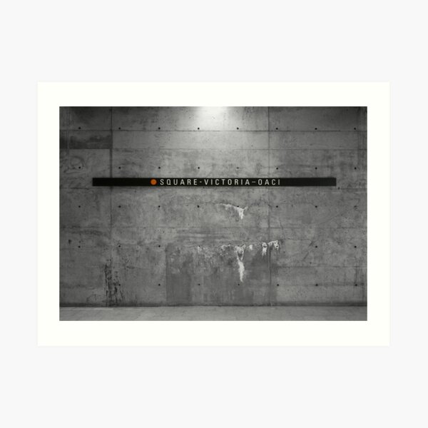 Station Square-Victoria (Panneaux/Signs I) Art Print