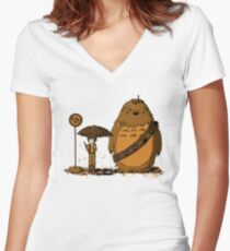 My Neighbour Chewie II Women's Fitted V-Neck T-Shirt