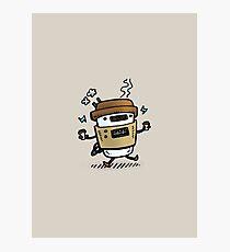 Latte Bot Photographic Print