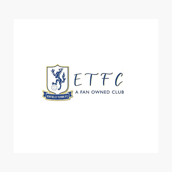 Enfield town football club - ETFC a fan owned club  Photographic Print