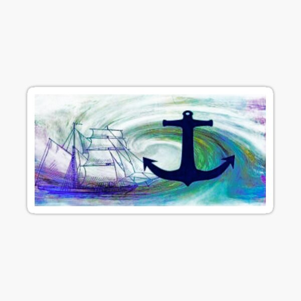 Nautical Blue Sticker