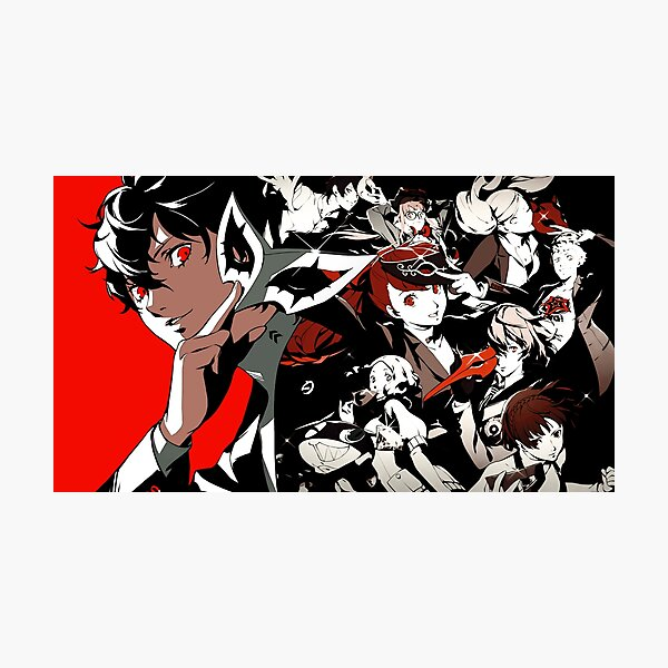 Persona 5 character artwork Photographic Print