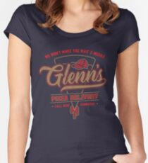 Glenn's Pizza Women's Fitted Scoop T-Shirt