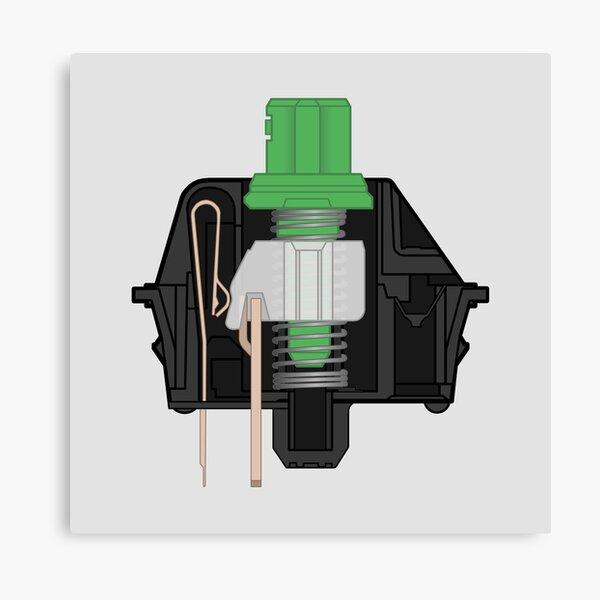Cherry MX Green Switch Mechanical Keyboard Canvas Print